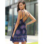 Bohemian Strappy Backless Dress For Women - PURPLISH BLUE