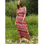 best Bohemian Split Sleeve Printed Women's Long Dress