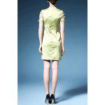 cheap Bird Embroidered Cheongsam Dress