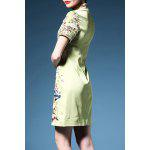 Bird Embroidered Cheongsam Dress deal