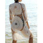 Bohemian Flare Sleeve Lace Spliced Women's Cover-Up - OFF-WHITE