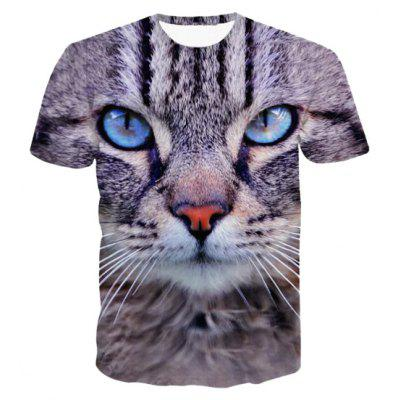 3D Animal Print Short Sleeve T-Shirt