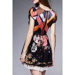 cheap Hit Color Printed Silk Dress