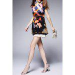 Hit Color Printed Silk Dress deal