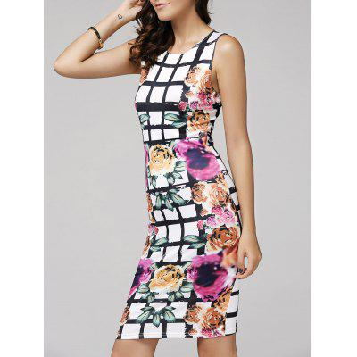 Bodycon Floral Bandage Dress