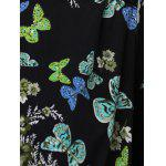 best Stylish Scoop Neck Cap Sleeve Butterfly Print Dress For Women