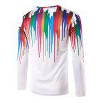 cheap 3D Colorful Splatter Paint Printed T-Shirt