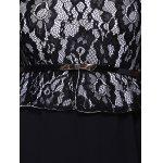 best Lace Insert Belt A Line Dress