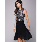 Lace Insert Belt A Line Dress deal