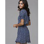 Print Front Button Frilled Dress deal