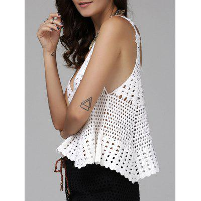 Alluring Plunging Hollow Out Women's Cover-Up Tank Top