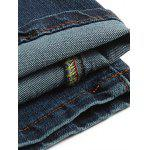 best Stylish Straight Leg Bleach Wash Zipper Fly Men's Jeans