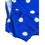 Stylish Spaghetti Straps Polka Dot Ruffled Swimwear For Women - BLUE