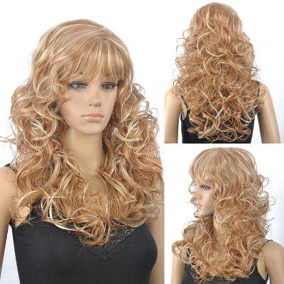 Buy COLORMIX Stunning Blonde Mixed Capless Fluffy Curly Full Bang Synthetic Wig For Women for $17.69 in GearBest store