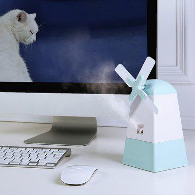 Mini-USB-Nebel-Diffusor Windmühle Form Fan-Anionen-Befeuchter für Office Home