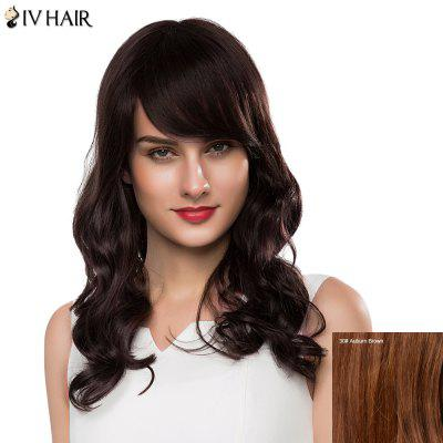 Bouffant Wave Siv Hair Capless Charming Long Side Bang Human Hair Wig For Women