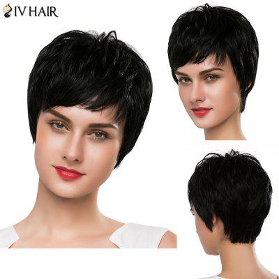 Hair Capless Spiffy Fluffy Straight Short Siv Hair Wig For Women