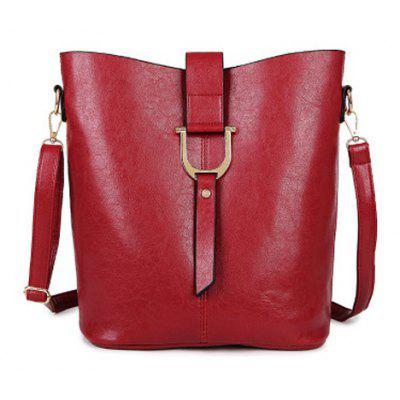 Buy Leisure Metal and Solid Color Design Crossbody Bag For Women WINE RED Bags & Shoes > Women's Bags > Crossbody Bags for $31.59 in GearBest store