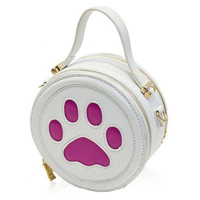 Cute Paw Print and Round Shape Design Tote Bag For Women