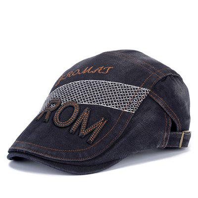 Stylish Letter Shape and Mesh Embellished Cabbie Hat For Men