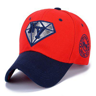 Trendy Letter Embroidery and Diamond Shape Embellished Sun-Proof Baseball Cap