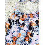 Cute Halter Full Print Bowknot Design Girl's One-Piece Swimsuit - COLORMIX
