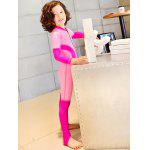 Cute Long Sleeve Color Block Kid's Diving Suit - ROSE PÂLE
