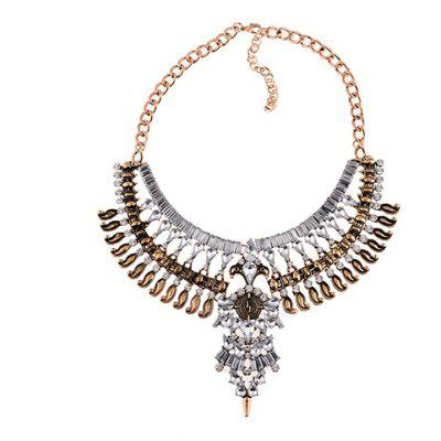 Exaggerated Rhinestoned Layered Women's Necklace
