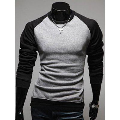 IZZUMI Raglan Sleeve Color Block Sweatshirt