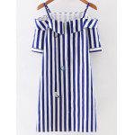 Buy BLUE AND WHITE, Apparel, Women's Clothing, Women's Dresses, Mini Dresses for $21.34 in GearBest store