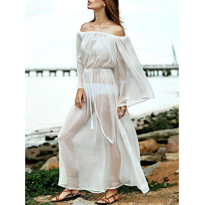 Off The Shoulder Waisted Cover Up Dress