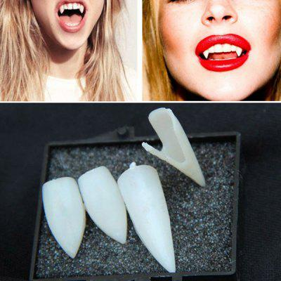 Buy WHITE 4PCS Hot Halloween Artificial Devil Vampire Teeth Cosplay Prop For Fancy Ball Party Show for $3.03 in GearBest store