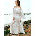 best Off The Shoulder Waisted Cover Up Dress