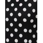 Chic Women's Polka Dot Jewel Neck Short Sleeve Dress - WHITE AND BLACK