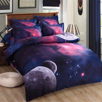 Chic 3D Planet Pattern Duvet Cover 4 PCS Bedding ( Without Comforter )