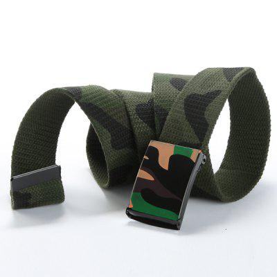 Stylish Army Camouflage Pattern Wide Belt For Men