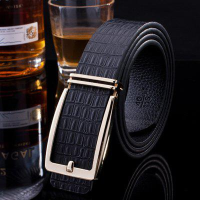 Stylish Pin Buckle Crocodile Skin Shape Wide Belt For Men
