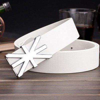 Stylish England Flag Shape Embellished Wide Belt For Men