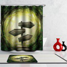 Creative 3D Jungle Digital Printing Mouldproof Shower Curtain For Bathroom
