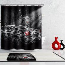 Creative 3D Roadster Digital Printing Mouldproof Shower Curtain For Bathroom