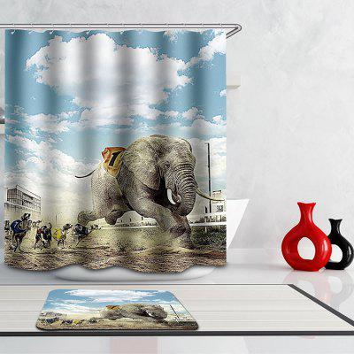 Novelty 3D Animal Games Digital Printing Mouldproof Shower Curtain For Bathroom