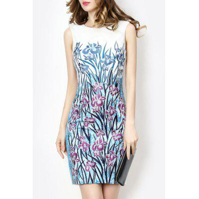Embroidered Floral Race Day Dress