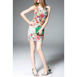 Sleeveless Floral Embroidered Mini Dress for sale