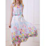 Bohemian Floral Print Chiffon Dress deal