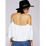 Charmante Blouse Pour Femmes Off The Shoulder Ruffled - BLANC