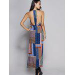 Tribal Print Maxi Backless Slit Casual Dress - MAVI MAVI