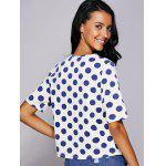 Casual Jewel Neck Polka Dot Short Sleeve Tee For Women deal