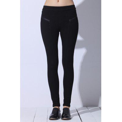 Zipped Stretchy Skinny Pants