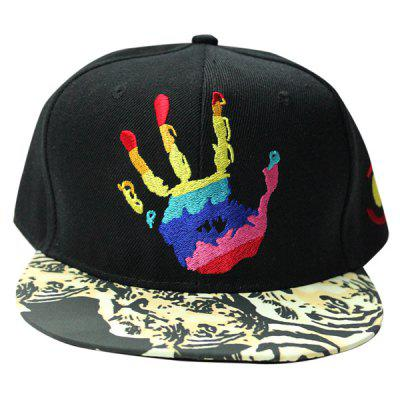 Trendy Colorful Hand Embroidery Tiger Pattern Brim Baseball Cap