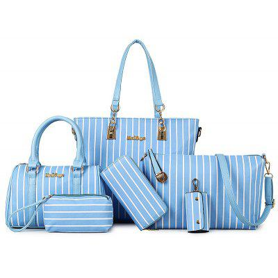 Charming Striped and Letter Design Shoulder Bag For Women